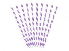 Brčka bílo světle fialová 10 ks