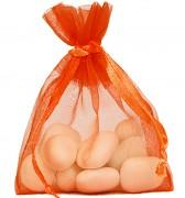 Sáček z organzy velký oranžový