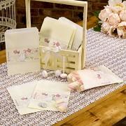 Papírové sáčky ivory na sladkosti svatební motiv