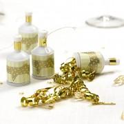 Mini vystřelovací zlaté konfetky s mašličkou