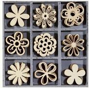 Dřevěné dekorace kytičky