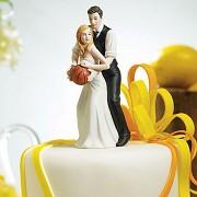Figurka na svatební dort Novomanželé s míčem