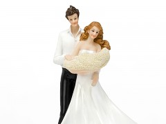 Svatební figurka Ženich a nevěsta s miminkem