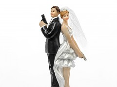 Svatební figurka na dort Tajní agenti