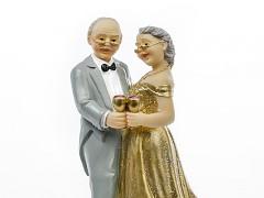 Svatební figurka Zlatá svatba