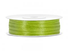 Stuha saténová světle zelená 3 mm x 50 m