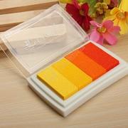 Razítkovací polštářek odstíny žluté a oranžové