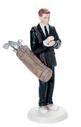 Figurka na svatební dort Ženich golfista