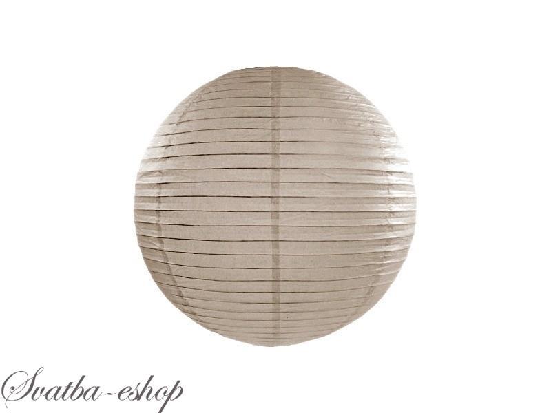 Lampion Svetle Hnedy Capuccino 25 Cm Svatebni Kulate Lampiony K