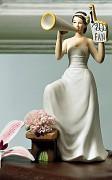 Figurka na svatební dort Fandící nevěsta