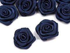 Růžička na svatební vývazek tmavě modrá 15 mm