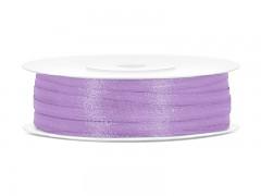 Stuha saténová světle fialová 3 mm x 50 m