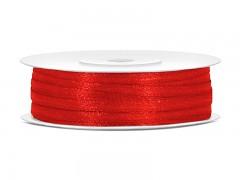 Stuha saténová červená 3 mm x 50 m