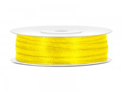 Stuha saténová žlutá 3 mm x 50 m