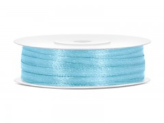 Stuha saténová světle modrá 3 mm x 50 m