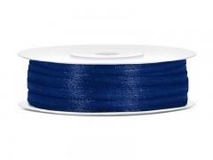 Stuha saténová tmavě modrá 3 mm x 50 m