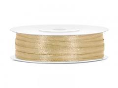 Stuha saténová zlatá 3 mm x 50 m