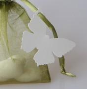 Jmenovka motýlek bílý