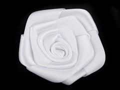 Saténová růže bílá Ø 45 mm