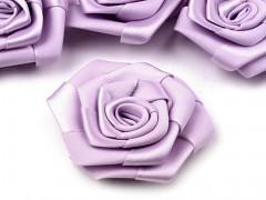 Saténová růže světle fialová lila Ø 45 mm