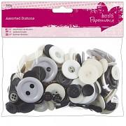 Knoflíky černo bílé