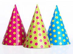 Party kloboučky s puntíky 6 ks