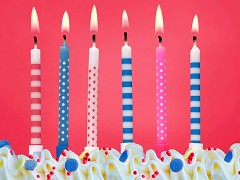 Svíčky na dort růžovo modré