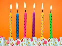 Svíčky na dort barevné s puntíky