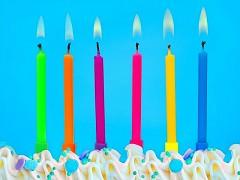 Svíčky na dort barevné