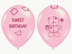 Balónek narozeninový medvídek růžový
