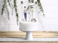 Ozdoba na svatební dort My love