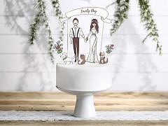 Ozdoba na svatební dort Lovely Day