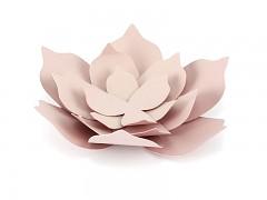 Papírová dekorace květy starorůžové