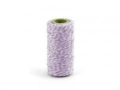 Provázek bílo světle fialový lila 50 m