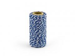 Provázek bílo modrý 50 m