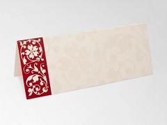 Svatební jmenovka bordový ornament