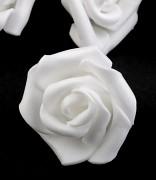 Růžička pěnová bílá 4 cm 10 ks