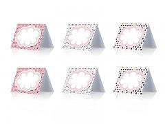 Svatební jmenovka sweets kolekce růžová 6 ks