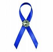 Vývazek s brožičkou královsky modrý