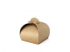 Krabička malá oblá přírodní 10 ks