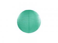 Lampion tmavě mátově zelený 25 cm