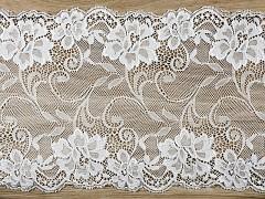 Šerpa na stůl krajka bílá 18 cm x 9 m