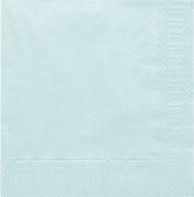 Ubrousky jemně světle modré 20 ks 40 x 40 cm
