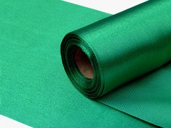 Satén 16 cm x 9 m smaragdově zelený