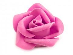 Růžička pěnová fuchsiová 4,5 cm 10 ks