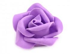 Růžička pěnová fialová lila 4,5 cm 10 ks
