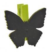 Jmenovka motýlek s kolíčkem světle zelená