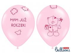 "Balónek narozeninový ""Mam juž roczek!"" růžový"