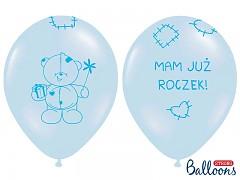 """Balónek narozeninový """"Mam juž roczek!""""modrý"""