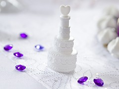 Bublifuk 4 ks - svatební dort se srdíčkem